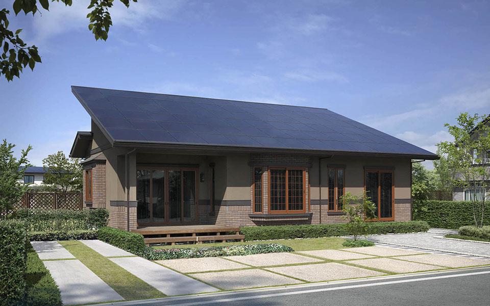 バリのリゾートのような平屋。9.8kW太陽光搭載。【埼玉県・K様邸】